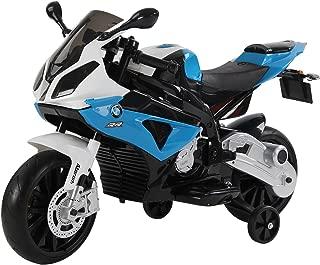 HOMCOM Compatible con Moto Electrica Infantil 3-8 Años Moto de Juguete Eléctrico Batería 12V Doble Motor con Luces y Música Ruedas de Apoyo 110x47x69cm BMW
