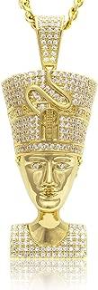 Nefertiti Egyptian Pendant DIAMOND + GOLD