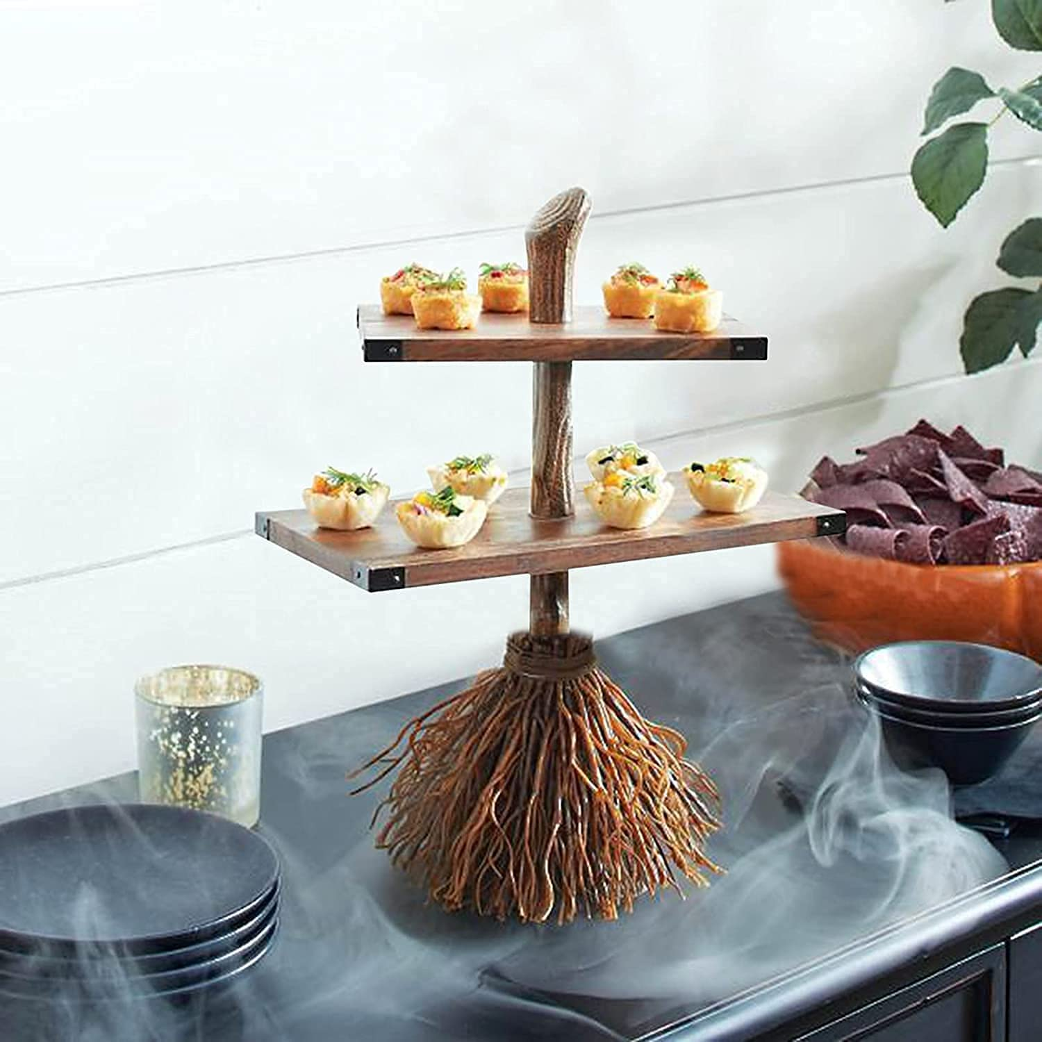 tablecloth Halloween Broomstick Snack Bowl Broom Spring new work one after another Witch New mail order Stand Fr