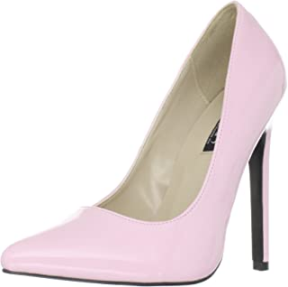 88fc3d17055d8 Amazon.com: Sexy Baby Pink 5 Inch High Heel Pumps: Clothing, Shoes ...
