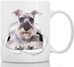 Super Gray Schnauzer Mug - Ceramic Schnauzer Coffee Mug - Perfect Schnauzer Gifts - Funny Cute Schnauzer Dog Mug for Dog Lovers and Owners (11oz)