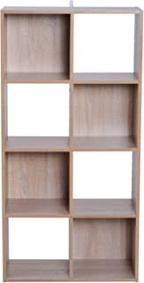 HOMCOM Estantería Librería 9 Cubos Armario de Almacenaje 4 Niveles Biblioteca Madera Separador de Habitación Estante de Exposición 61.5x29.5x122.5cm Madera