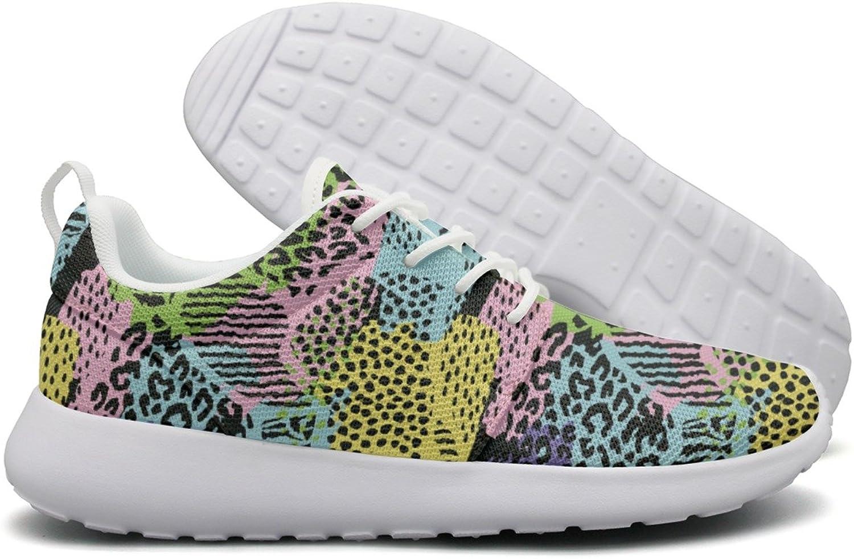 ERSER Abstract Leopard Print Decor Neutral Running shoes Women