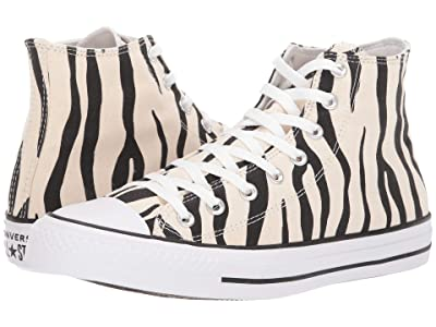 Converse Chuck Taylor All Star Hi Zebra Print (Zebrah/Black/White) Skate Shoes