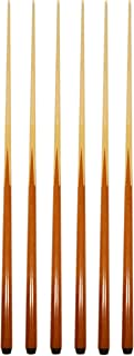 Set of 6 Pool Cues New 57