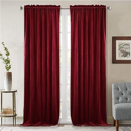 "tieback 166 x 270 cms VINTAGE RED VELVET DOOR CURTAIN 65/""W x 106/""L"