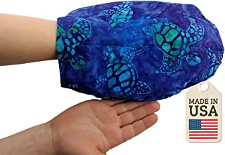 The Hand Mitt - Hot or Cold Therapy Pack - Batik Turtle Fabric