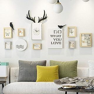 JY Conjunto de marcos de fotos de madera - Montado en la pared Home Mall - Marcos de fotos modernos Pared + Marcos de foto...