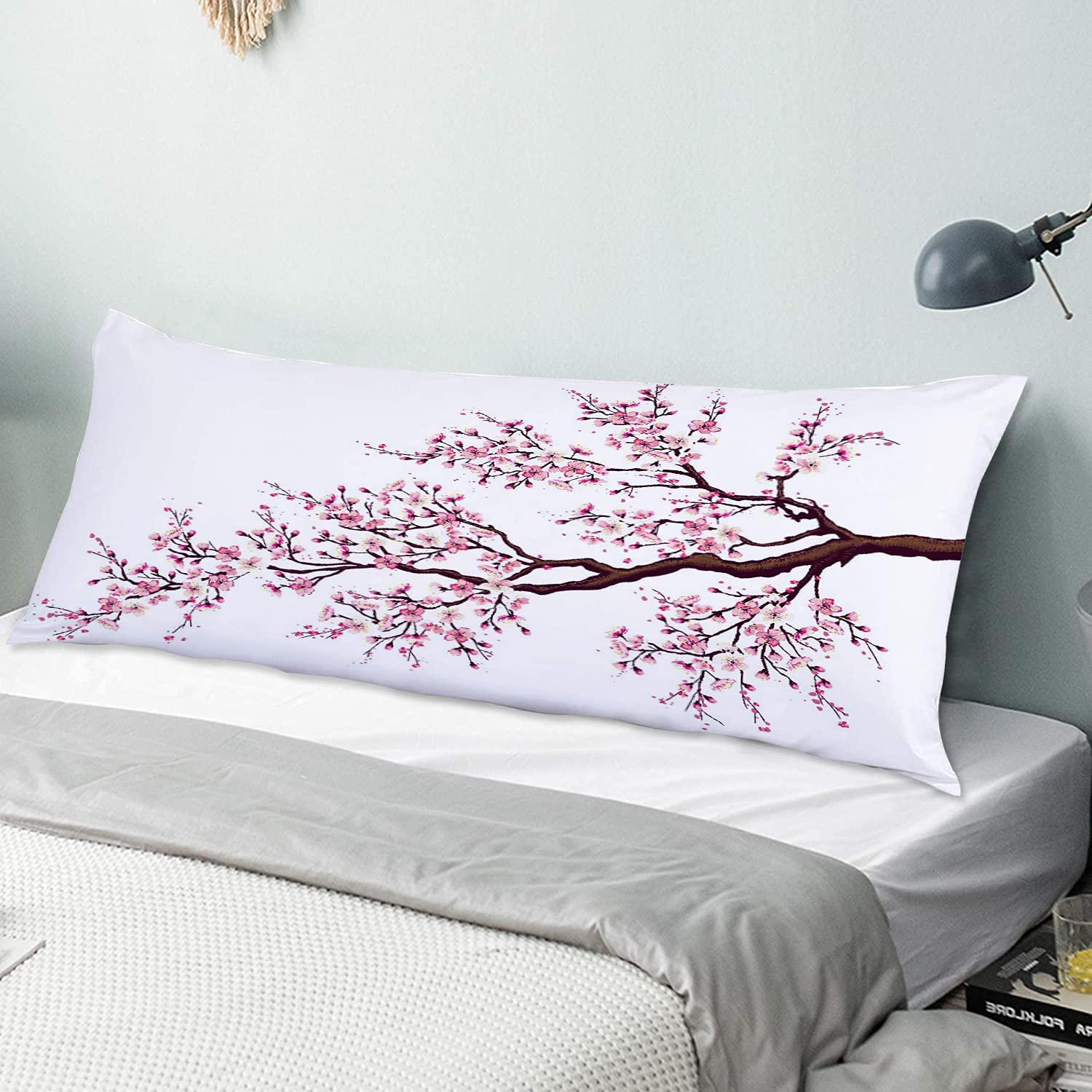 Department store NINEHASA Body Pillow Pillowcase Branch Cherry Tr Free Shipping New Blossoming a of
