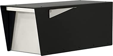 Modern Mailbox, Black Powder Coated, Post-Mount Mailbox Vsons Design Anthony B