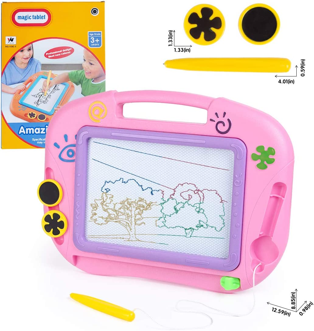 Kids Magnetic Drawing Boards Early Learning Toy Gift for 3-12 Years Old Boys Girls Toddlers Travel Size Erasable Colorful Magna Doodle Board for Kids Ltteaoy Magnetic Drawing Board for Kids