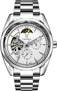 Tevise Casual Watch Analog Stainless Steel Band for Men, Silver, 795A-SW