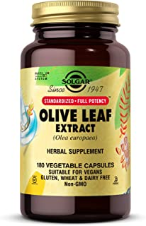 Solgar Olive Leaf Extract, 180 Vegetable Capsules - Antioxidant & Immune Support - Standardized Full Potency (SFP) - Vegan...