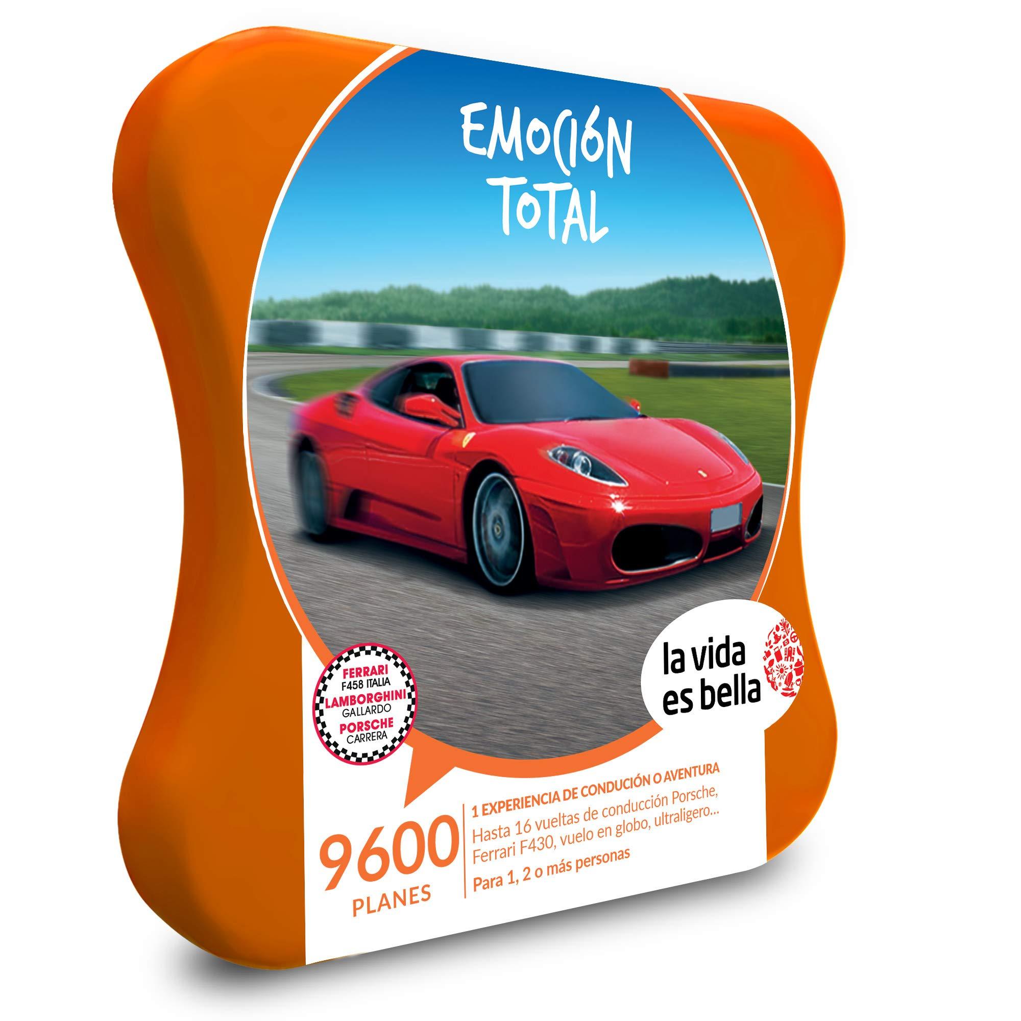 LA VIDA ES BELLA - Caja Regalo hombre mujer pareja idea de regalo - Emoción total - 9600 planes de aventura como conducción en Porsche o Ferrari, vuelo en globo y ultraligero: