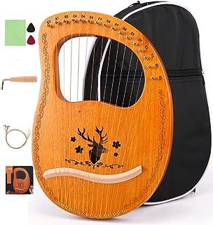 چنگ لیر 16 رشته ای ETE ETMATE ، لیر سبک باستانی ماهاگونی ، ساز موسیقی هارپ دستی با آچار کوک سیاه کیسه سیاه ، برای کودکان عاشق موسیقی بزرگسالان