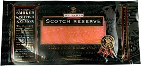 St. James Scottish Reserve Sliced Skinless Smoked Salmon, 1 pound Package