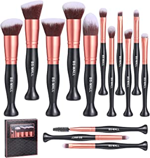 BS-MALL Stand Up Makeup Brushes Premium Synthetic Foundation Powder Concealers Eye Shadows Makeup...