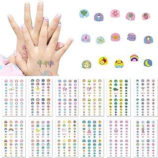 Kalolary 550 mönster 3D nagelklistermärken självhäftande, 1 nagelfil klistermärke tatuering nageldekal nagelkonst klisterm...