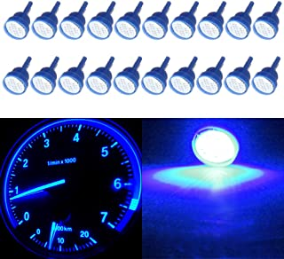 cciyu T10 194 COB LED Bulb Blue W5W 912 Instrument Panel Gauge Cluster Dashboard Light,20 Pack