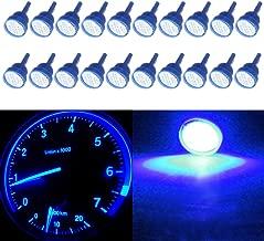 cciyu T10 194 COB LED Bulb Blue W5W 912 Instrument Panel Gauge Cluster Dashboard Light,20 Pack