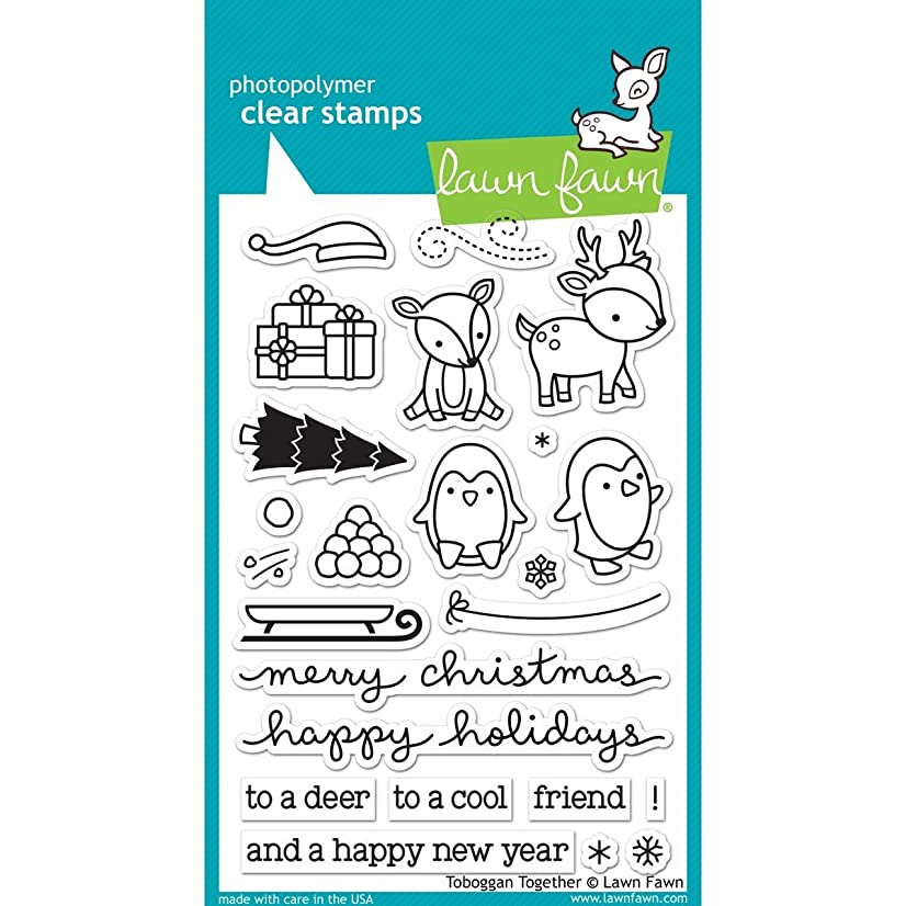 Lawn Fawn Clear Stamps - LF976 Tobaggan Together