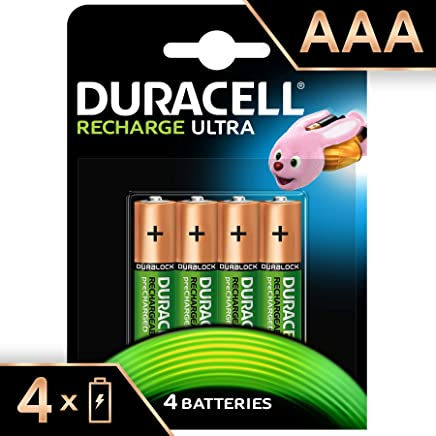 Duracell Recharge Ultra Type AAA Batteries 900 mAh, pack of 4