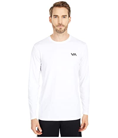 RVCA VA Sport Vent Long Sleeve Top (White) Men