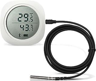 Inkbird IBS-TH1 Plus Bluetooth Registrador de Temperatura y Humedad Data Logger Termometro Digital con Sonda Externa y LCD Pantalla, Eléctrica de 2* Batería para Caja de Cigarro, Reptile Terrario
