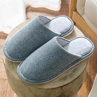 Promworld Classic Slipper,Zapatillas de Invierno de algodón, Zapatos de Pareja de casa-Azul Marino_45-46,Zapatillas de Inv...