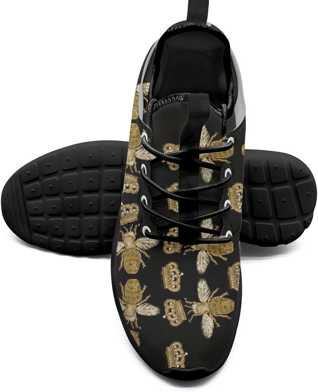 Crown and Queen Queen Queen Bee Man utskrift Mode springaning skor Navy Gåva  erbjuder 100%