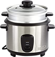 IMUSA USA GAU-00023 Electric Rice Cooker with Steam Tray 10-Cup Uncooked Rice (20-Cup Cooked Rice), Stainless Steel