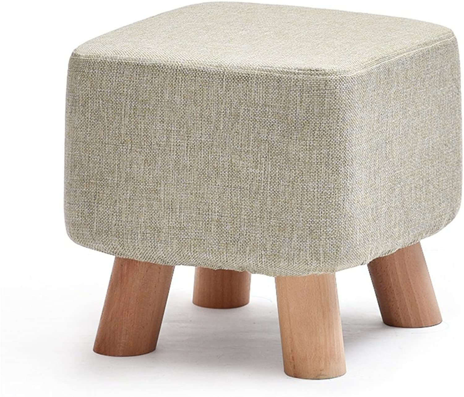 Stools Beech production color shoes high rebound sponge small bench 29  29  29cm (color   Beige)