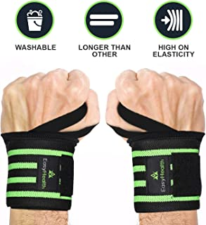 """EasyHealth Wrist Wraps – 22"""" Professional Grade with Thumb Loops – Wrist Support Braces for Men and Women (1 Pair)"""