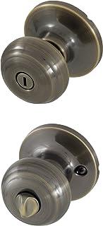 Honeywell Safes & Door Locks 8101102 Classic Privacy Door Knob, Antique Brass