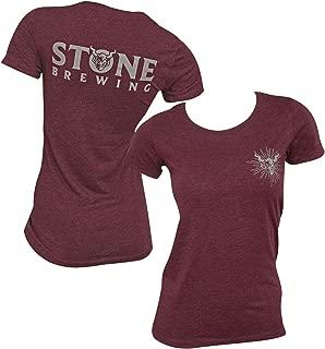 Stone Brewing Logo Women's Dark Red T-Shirt