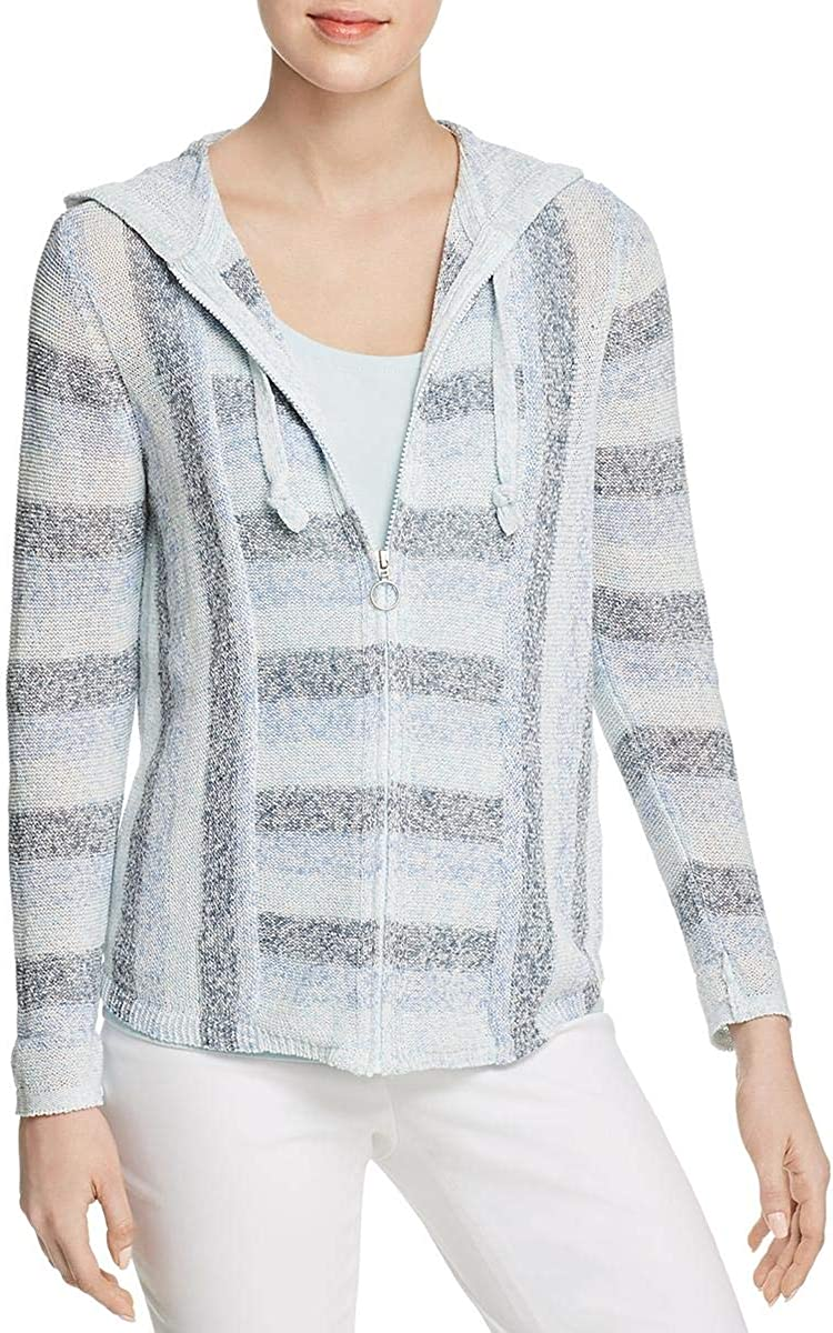 NIC+ZOE Women's Barefoot Hooded Cardy Sweater, Multi, Extra Large
