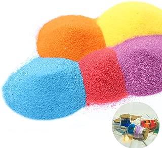 Art Sand, Scenic Sand Craft Sand Terrarium Sand Decorative Sand Wedding Sand Colored Sand for Vase Filler Party Favors, 10 Color (2.2 LB)