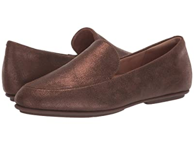 FitFlop Lena Shimmer Loafers (Chocolate Brown) Women
