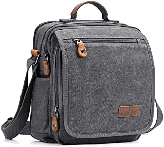 Canvas Messenger Bag Small Travel School Crossbody Bag