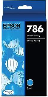 EPSON T786 DURABrite Ultra Ink Standard Capacity Cyan Cartridge (T786220) for Select Epson Workforce Printers