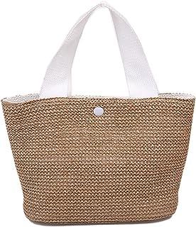 Damen Hobos & Schultertaschen 30 * 20 cm Sommer Bohemian handgewebte Tasche Damen Strand Strohtasche Strandtasche Rattan T...