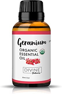 Divine Botanics Geranium Organic Essential Oil (Organic 30ml)