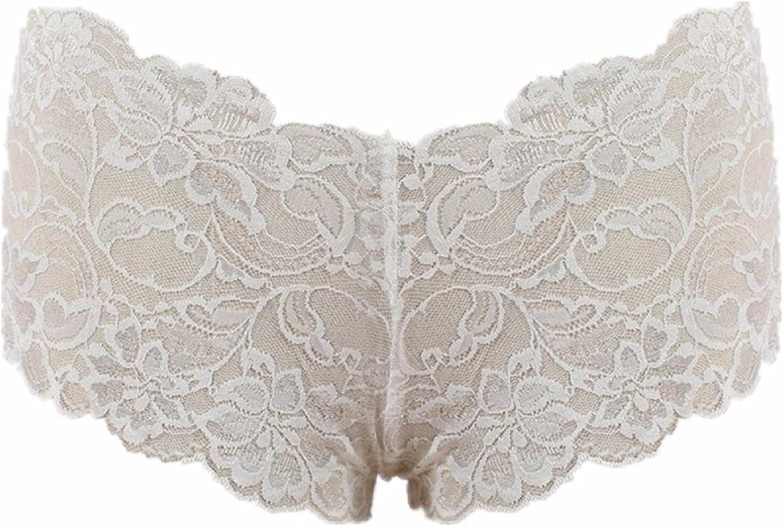 BEAUTYVAN Women's High Waist G-String Boxer Briefs Panties Sexy Lace Sheer Soft Comfy Thong Lingerie Knicker Underwear