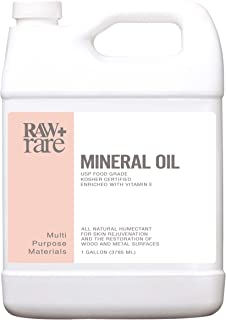 Mineral Oil Gallon, Food Grade Safe Wood/Bamboo Oil, Cutting Board, Butcher Block Conditioner, Knife Blade, Cast Iron Tool...