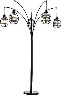Home Accessories FM099/5 Arbolumen Matte Black Caged 5-Lantern Tree (Includes Edison Bulbs) Floor Lamp