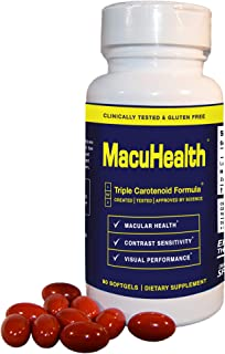 MacuHealth Eye Vitamins Supplement for Adults (90 Softgels, 3 Month Supply) Eye Formula with Lutein, Zeaxanthin, And Meso-Zeaxanthin | Protect Against Macular Degeneration
