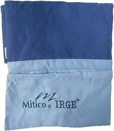 IL MITICO DI IRGE telo lettino mare in microfibra con tasche laterali ed elastici antiscivolo (blu)