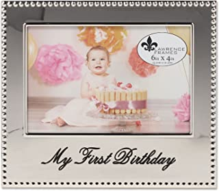 Lawrence Frames 4x6 My First Birthday Picture Frame
