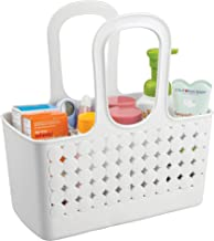 InterDesign Orbz - Shower Tote Holder and Organizer for Shampoo, Cosmetics, Beauty Products - White - Small/Divided: 11.75...