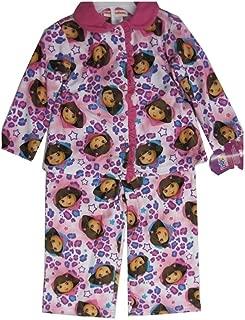 Nickelodeon Little Girls Pink Dora The Explorer Heart Print 2 Pc Pajama Set 2-4T